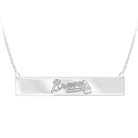MLB Atlanta Braves Bar Adjustable Necklace