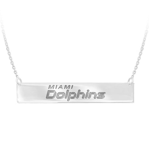 NFL Miami Dolphins Bar Adjustable Necklace