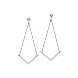 14kt Yellow Gold Draw the Line V Shape Earrings