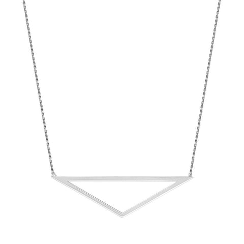Sterling Silver  Adjustable Open Pyramid Necklace