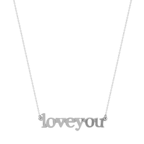 Sterling Silver East2West LOVE YOU Adjustable Necklace