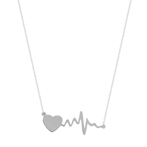 Sterling Silver East2West Heartbeat Adjustable Necklace