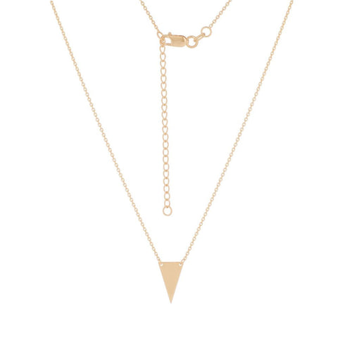 14kt Yellow Gold Triangle Rope Adjustable Necklace