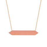 14kt Yellow Gold Hexagon Bar DC Cable Adjustable Necklace
