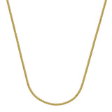 10kt Yellow Gold Round Wheat Chain Necklace 1.82mm