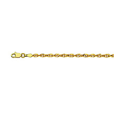 14kt Yellow Gold Merlucci Chain Necklace 2.60mm