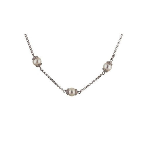 14kt White Gold Necklace with 11mm South Sea Pearls