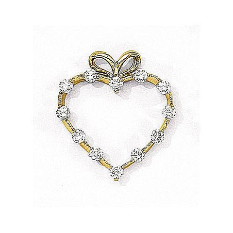 14kt Yellow Gold Heart Diamond Pendant 0.50ct TW*