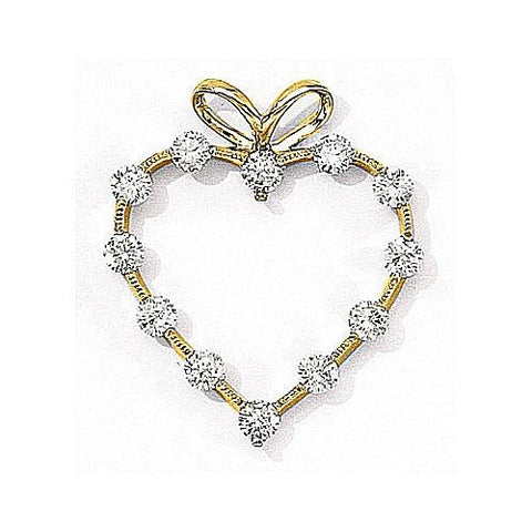 14kt Yellow Gold Diamond Heart Pendant 1.00ct TW*