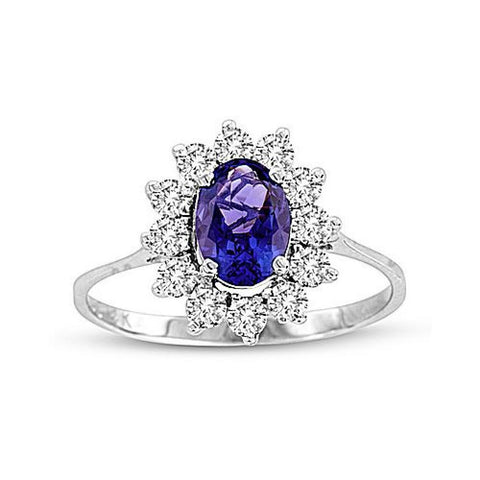 1.33cttw Tanzanite and Diamond Ring set in 14k Gold