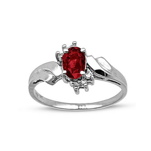 0.60cttw Ruby and Diamond Fashion  Ring set in 14k Gold