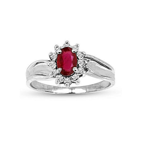 0.67cttw Ruby and Diamond Fashion Ring set in 14k Gold