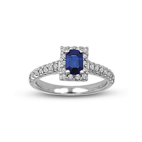 1.00cttw Diamond and Sapphire Ring set in 14k Gold