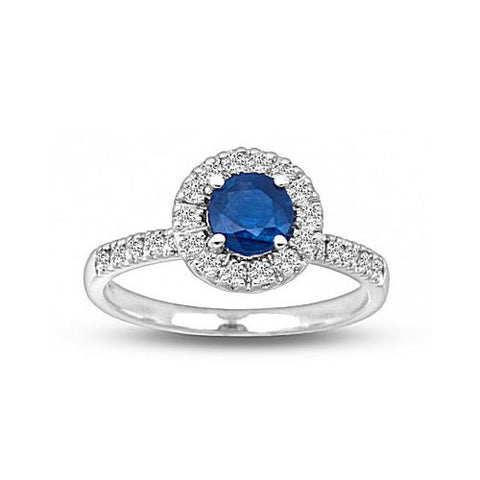 0.90cttw Diamond and Sapphire Ring set in 14k Gold