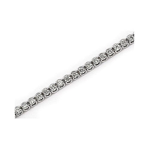 "14kt White Gold Diamond ""U"" Trellis Bracelet 2 ct TW"