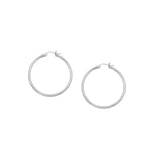 10kt Yellow Gold 2mm x 20mm Polished Hoop Earrings