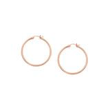 14kt Yellow Gold 2mm x 20mm Polished Hoop Earrings