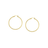 10kt Yellow Gold 2mm x 25mm Polished Hoop Earrings