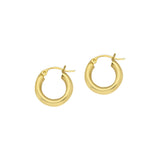 10kt Yellow Gold 3mm x 15mm Polished Hoop Earrings