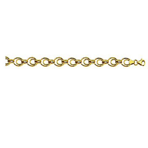 14kt Yellow Gold Multi Link Oval Bracelet 7.25 inches