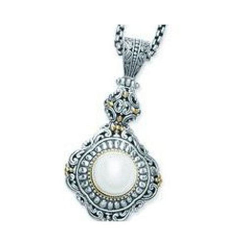 Sterling Silver and 18kt Gold Pearl Pendant