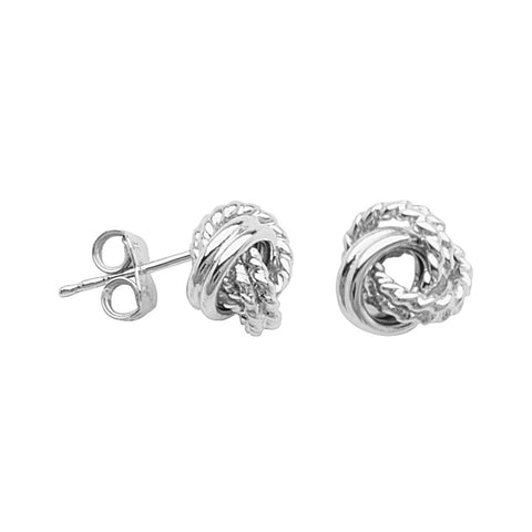s products silver love long knot jewelers sterling earrings