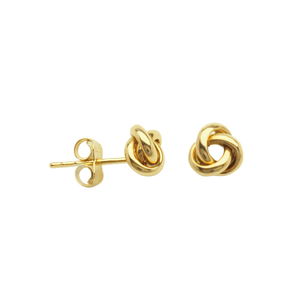 10kt Yellow Gold Small Love Knot Earrings