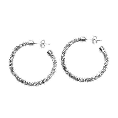 Sterling Silver Bead Earrings Friction Back
