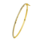 14kt White Gold 3mm Wide Glitter Bangle