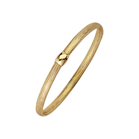 14kt Yellow Gold Flexible Twist Bangle