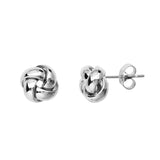 14kt White Gold Love Knot Earrings