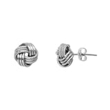 Love Knot Earrings in 14kt White Gold