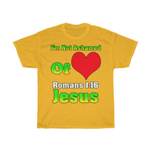 Load image into Gallery viewer, I'm Not Ashamed Of Jesus T Shirt
