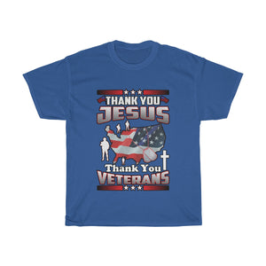 Thank You Jesus And Veterans T Shirt