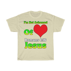 I'm Not Ashamed Of Jesus T Shirt