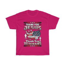Load image into Gallery viewer, Thank You Jesus And Veterans T Shirt