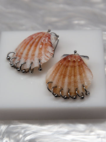 Soft Blonde - Scallop Earrings