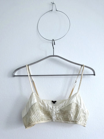 HOH Curate - 3.1 Phillip Lim Sequin Button Down Bralette