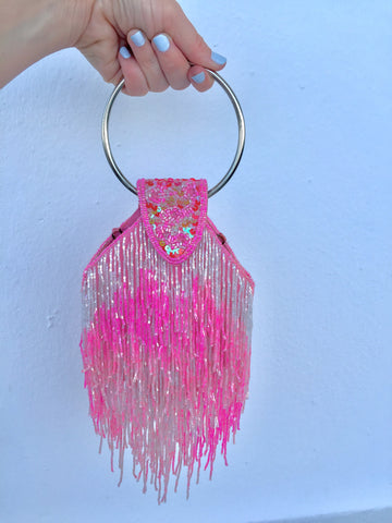 HOH Curate - Vintage Beaded Fringe Bag
