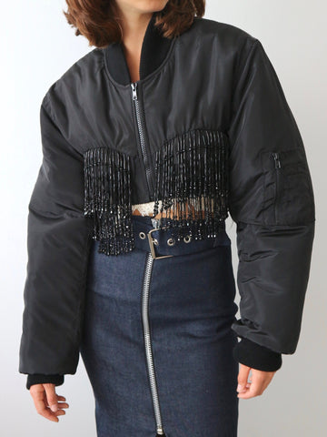 Ashley Williams - Beaded Bomber Jacket