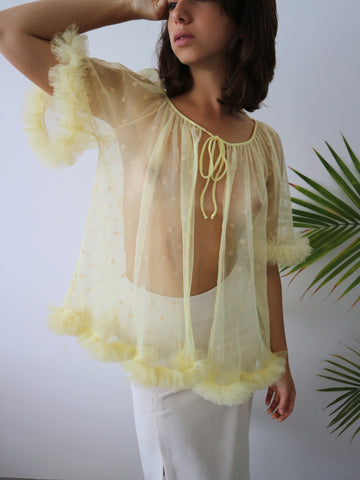 HOH Curate - 1950's Sheer Frill Top
