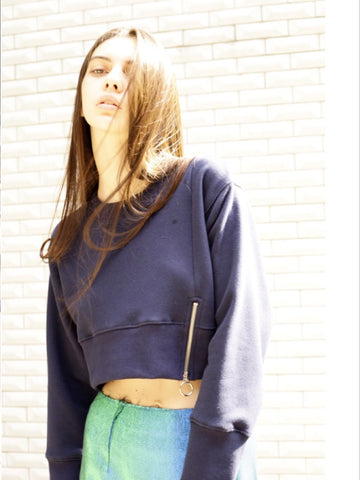 OUOR - Monday Cropped Sweatshirt