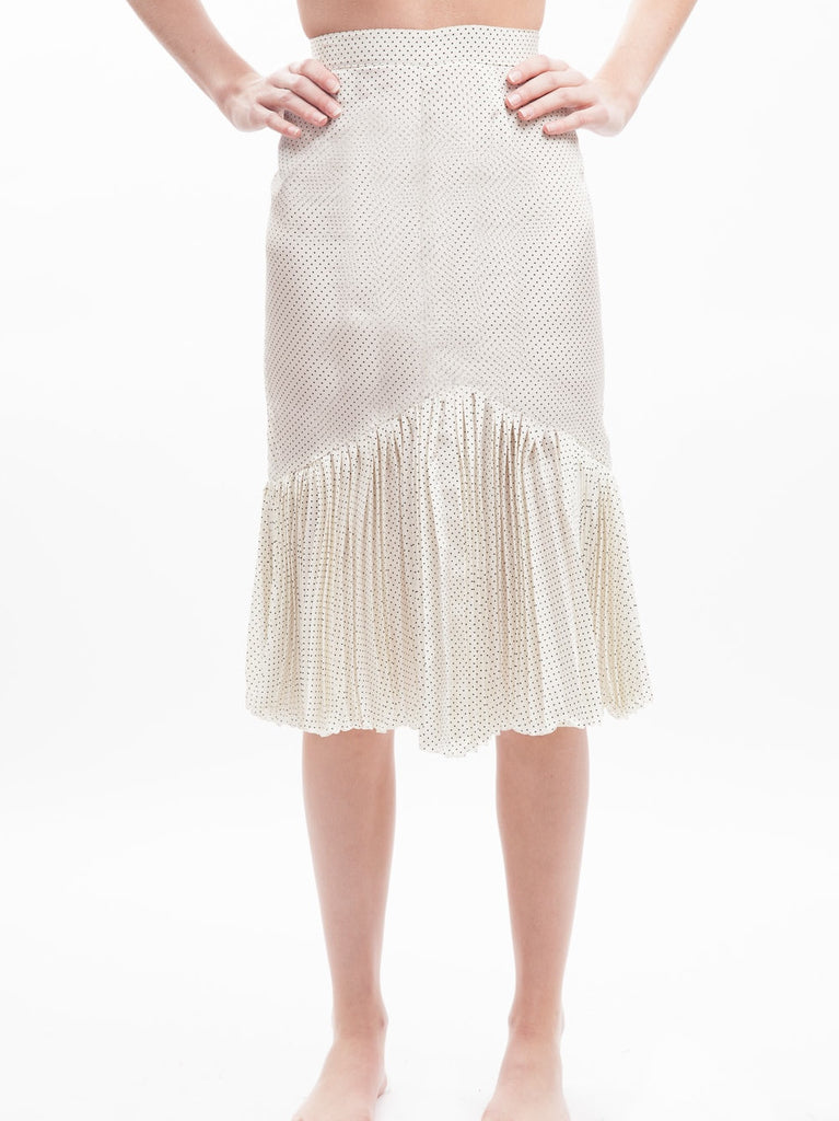 HOH Curate - Vintage Silk Dotted Pleated Skirt