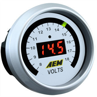 AEM Digital Volt Gauge. 8~18Vs