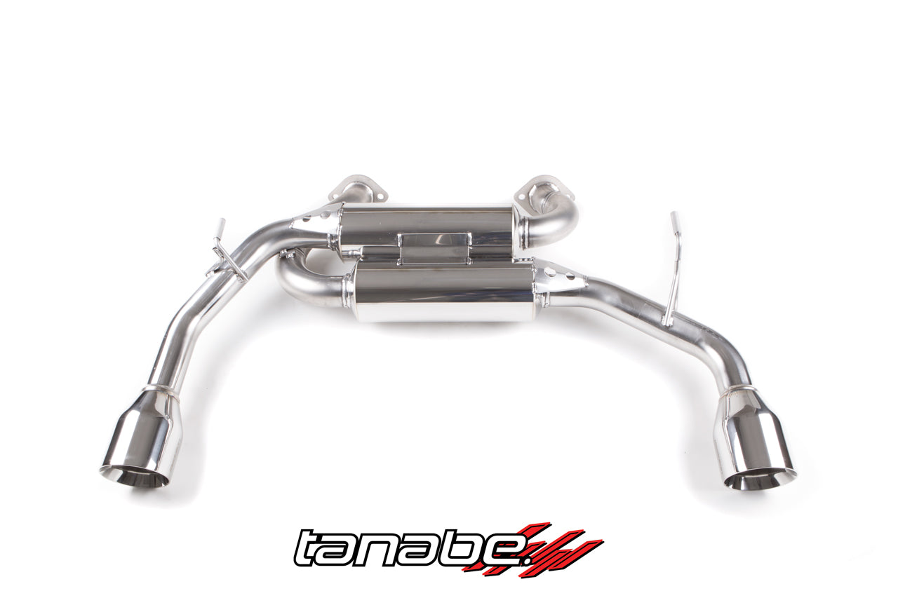 Infiniti Q50 Tanabe Medalion Touring Exhaust; Axle Back Exhaust; Dual Muffler