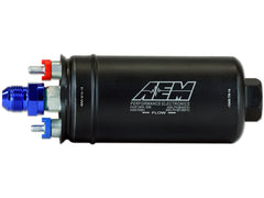AEM 400LPH Inline AN Fittings High Flow Fuel Pump