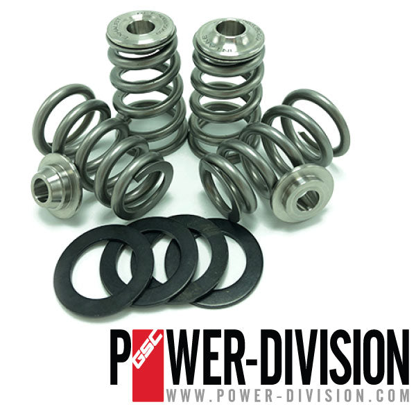 GSC Power-Division Conical High Pressure Valve Spring Kit with Ti retainer for the Nissan GT-R VR38DETT