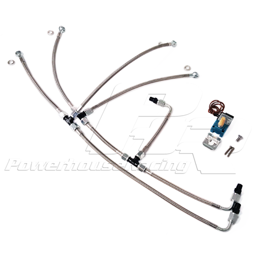 PHR -- Powerhouse Racing Stainless Boost Control Line Kit for S45/S23 Turbo Kits