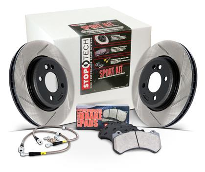 StopTech Full Brake Kit for 1993-1998 Toyota Supra Turbo w/ OEM Calipers (Drilled Rotors)