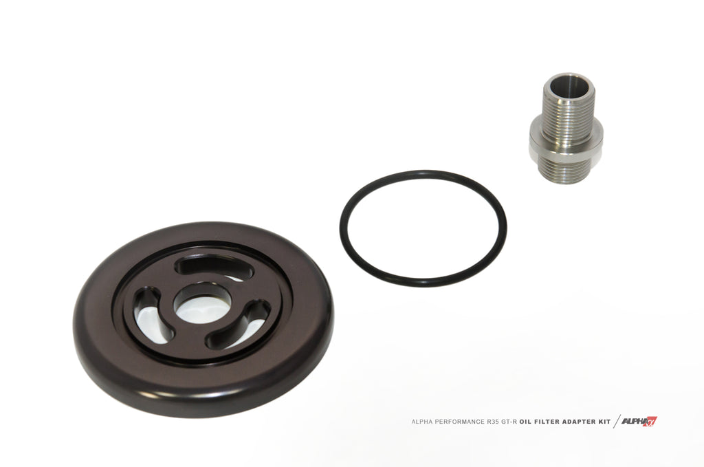 Alpha Performance R35 Race Oil Filter Adapter Plate